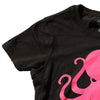 Octopus Women's Tee BLACK w/ PINK
