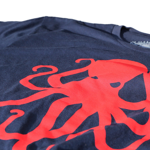 Octopus Tee Nvy/Red