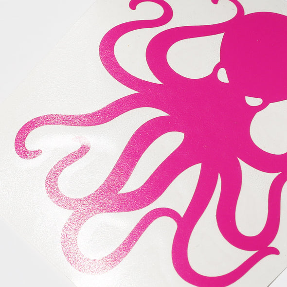 "4"" Pink Vinyl Octopus Sticker"