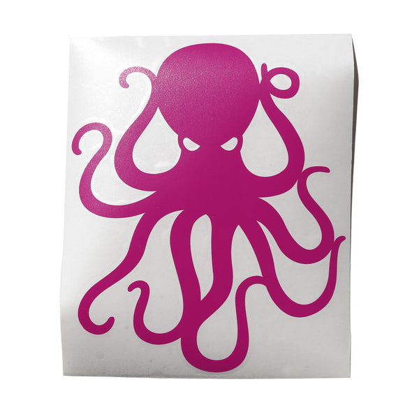 "8"" Pink Vinyl Octopus Sticker"