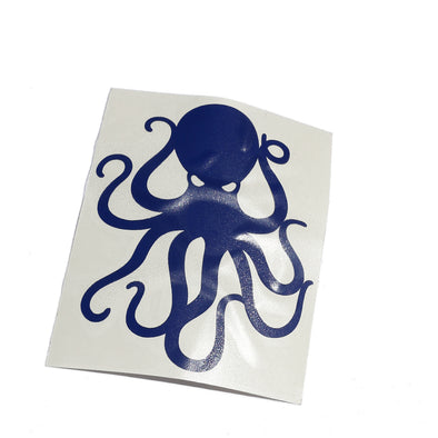 "4"" Navy Vinyl Octopus Sticker"
