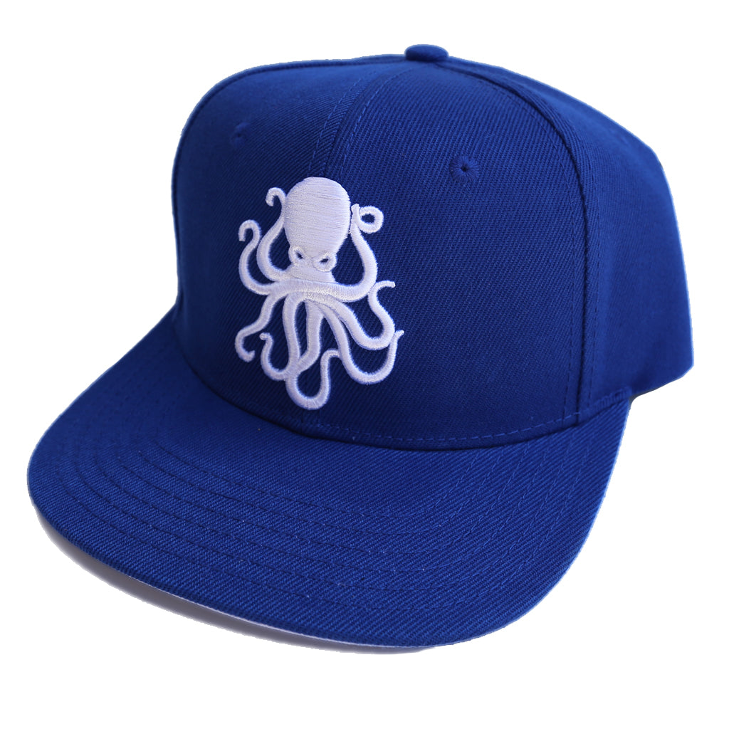 Octopus Blue w/White - Snap Back