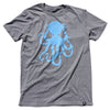 Octopus Tee Graphite/Lt.Blue