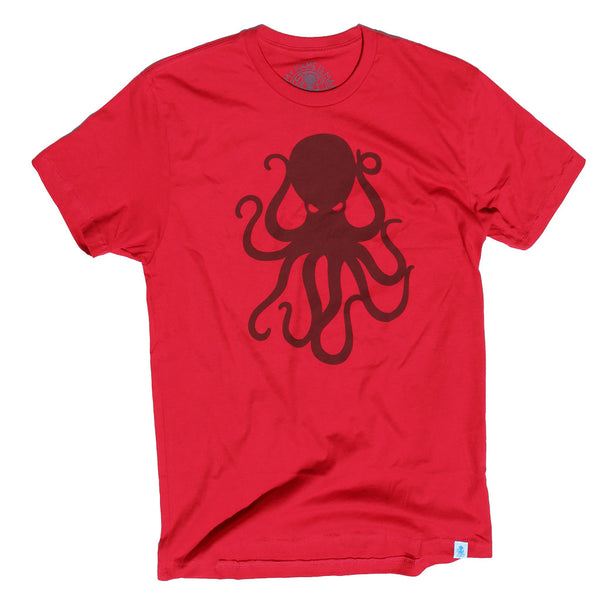 Octopus Tee Red/Red