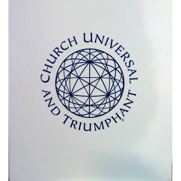 Binder: 2 inch wide, 3 rings with white church logo