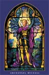 Archangel Michael Tiffany 10 pack (laminated) wallet card