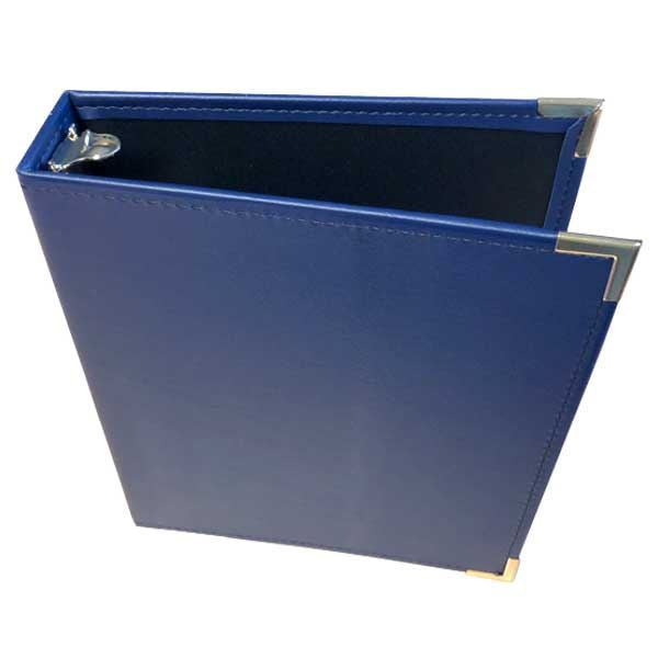 Binder: 2 inch wide, 3 rings in Leather Blue