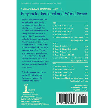 A Child's Rosary - Prayers for Personal and World Peace - CD