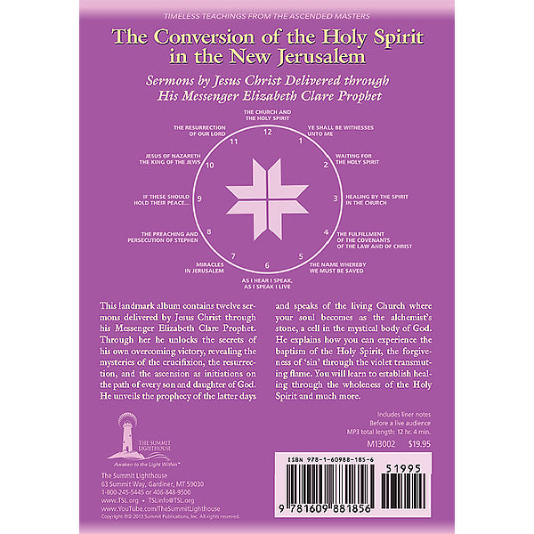 The Conversion of the Holy Spirit in the New Jerusalem - (MP3 CD)
