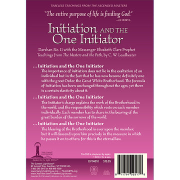 Initiation and the One Initiator, Darshan 11 - (DVD VIDEO)