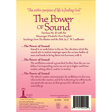 144The Power of Sound - (DVD - VIDEO)