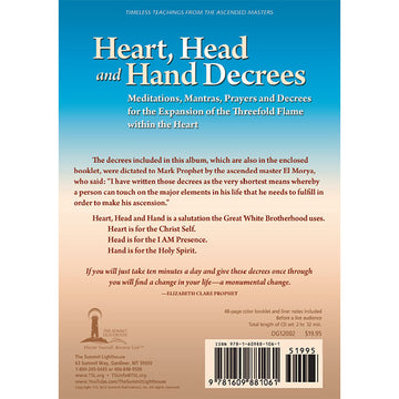 Heart, Head, and Hand Decrees - Booklet CD Set - CD