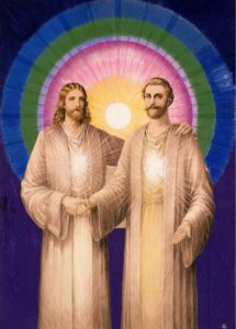 Jesus and Saint Germain 5 x 7