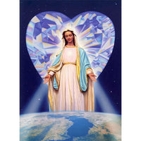 268Mary's Diamond Heart Blessing - 5 x 7 by J.P. Mathis