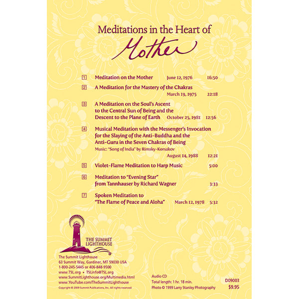 Meditations In The Heart of Mother - CD