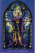 Archangel Michael Tiffany Wallet Card