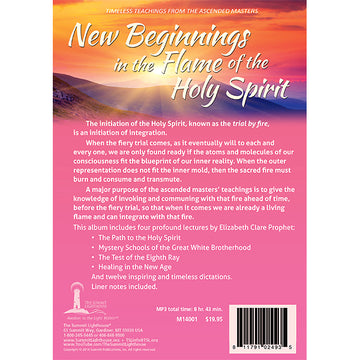New Beginnings in the Flame of the Holy Spirit - (MP3 CD)