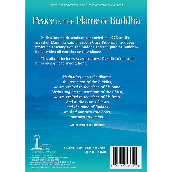 The Peace in the Flame of Buddha - (MP3 CD)