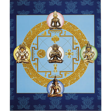 Mandala Of The Five Dhyani Buddhas - 19 x 23 poster