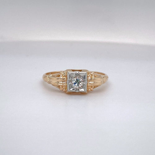 Ladies Classic Vintage Engagement Ring