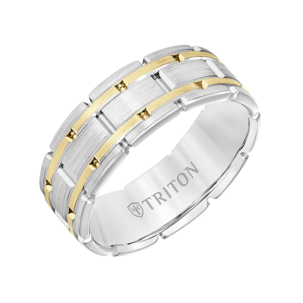Gold Men's Wedding Band - 11-6092WY8-G
