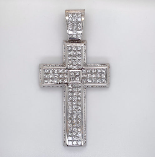Handmade Diamond Cross Pendant