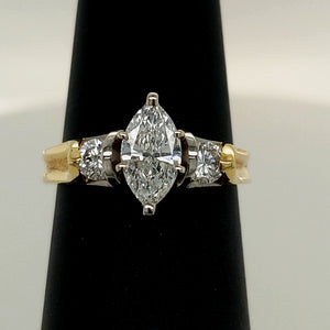 18K Yellow & Platinum Diamond Engagement Ring