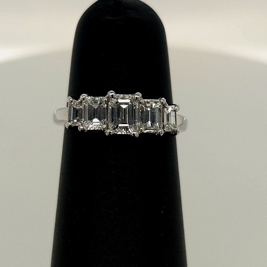 1CT Platinum Diamond Engagement Ring