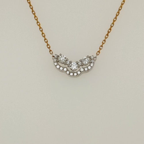 14k White and Yellow Gold Necklace