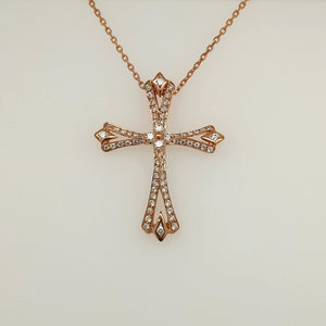 14k Rose Gold Diamond Necklace