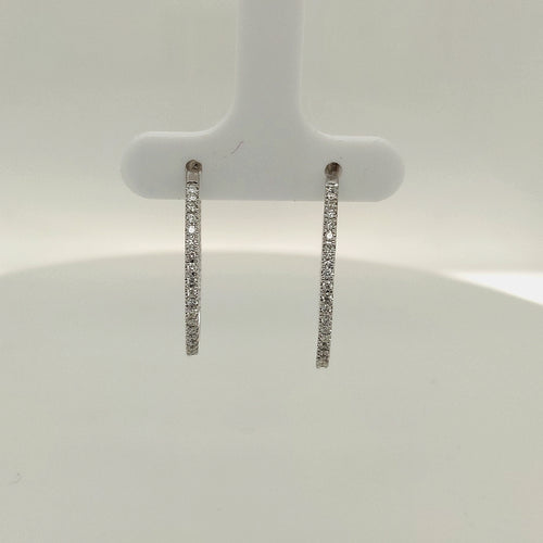 1/2 CTW Diamond Hoop Earrings