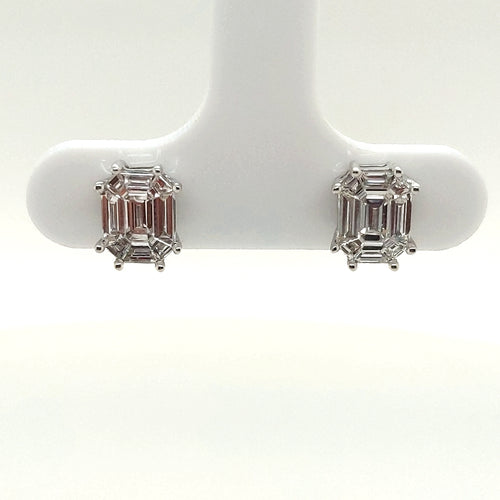 1 CTW Diamond Stud Earrings