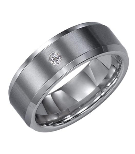 Tungsten Men's Wedding Band - 21-2239C-G