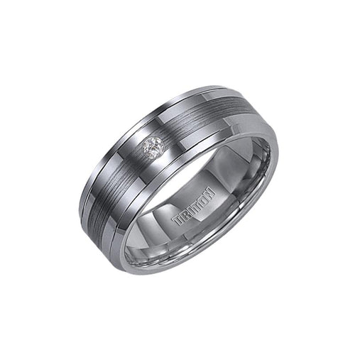 Tungsten Men's Wedding Band - 21-2331C-G