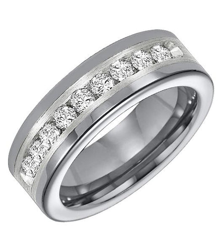 Tungsten Men's Wedding Band - 21-3308SC-G