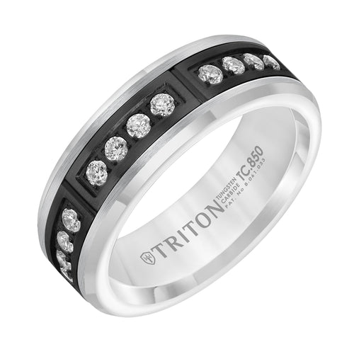 Tungsten Men's Wedding Band - 22-6045BWC7-G