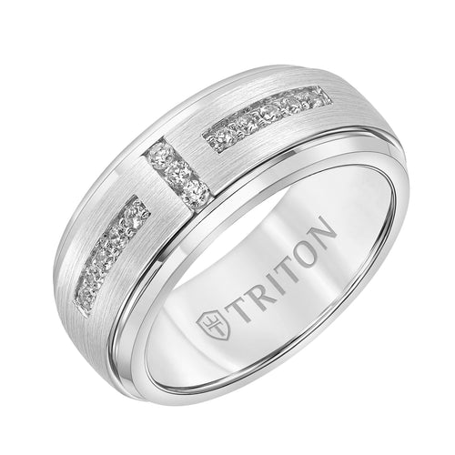 Tungsten Men's Wedding Band - 22-6089WCS-G