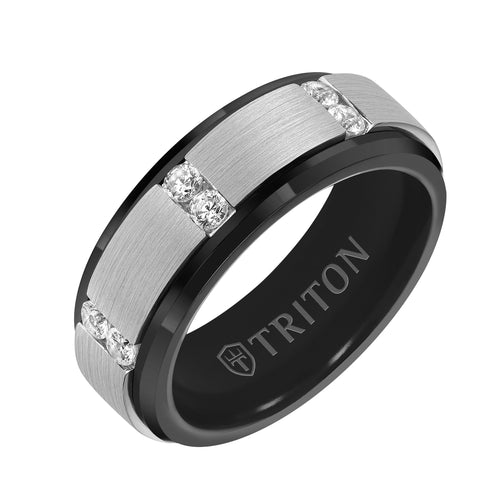 Tungsten Men's Wedding Band - 22-6091BCS-G