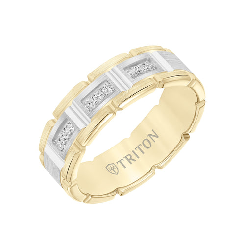 Gold Men's Wedding Band - 22-6135YW7-G