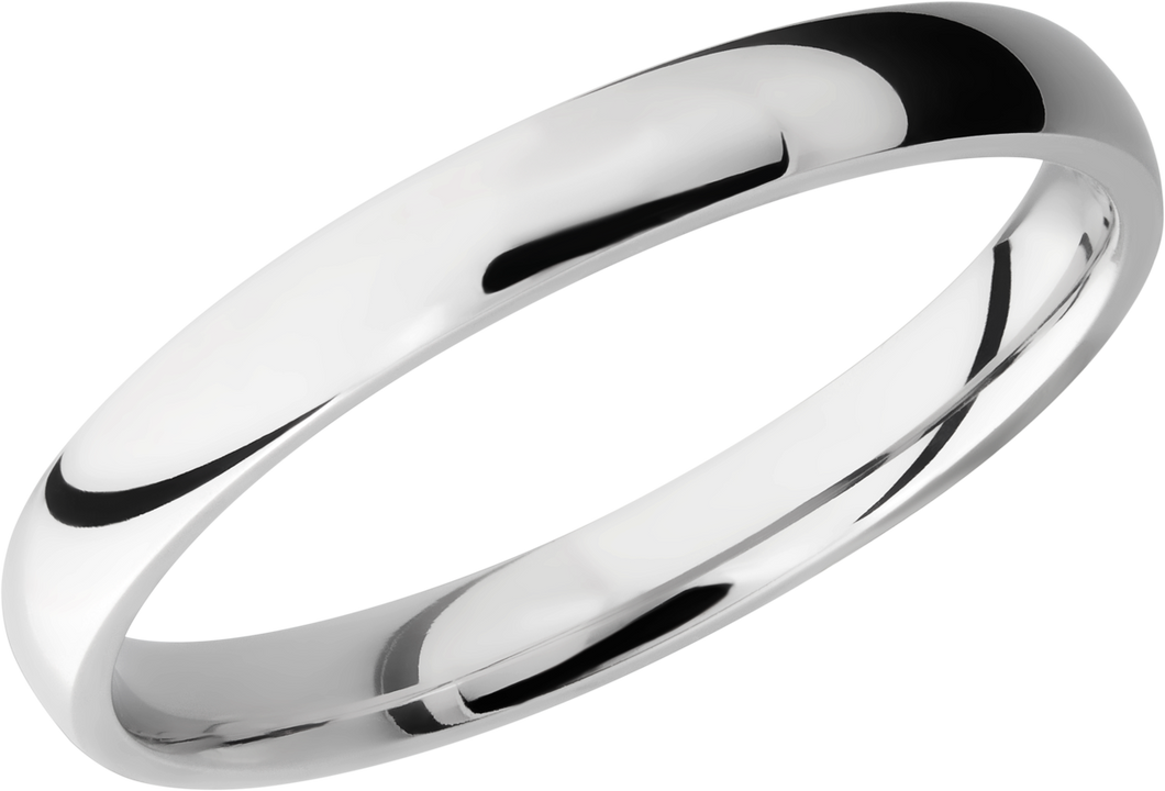 lashbrook titanium collection titanium 3mm domed band