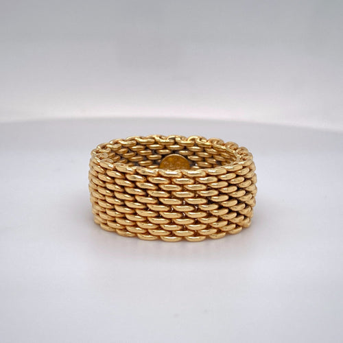 Estate 18K Yellow Gold Tiffany & Co. Mesh Ring
