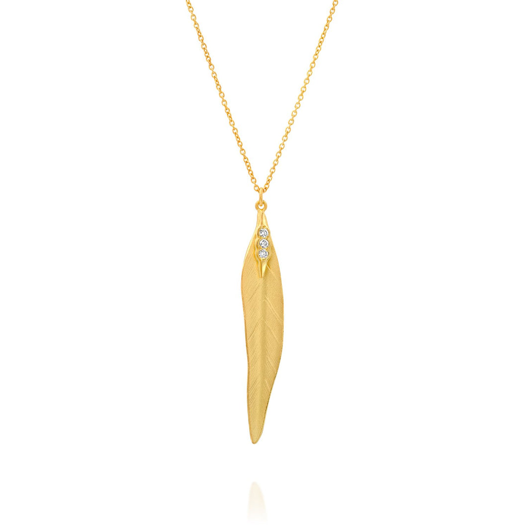 5350 - 14kt yellow gold special engraving matte diamond necklace