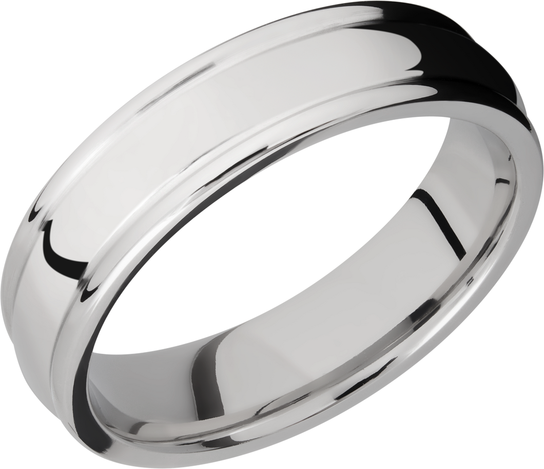 lashbrook titanium collection titanium 6mm domed band