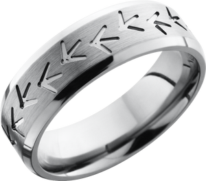lashbrook titanium collection titanium 7mm beveled band