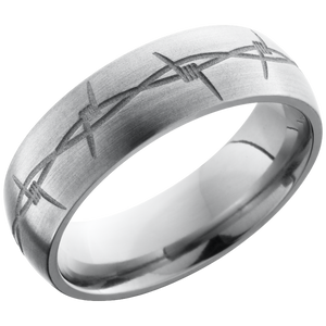 lashbrook titanium collection titanium 7mm domed band