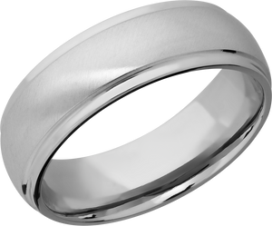 lashbrook classic titanium 7mm domed band