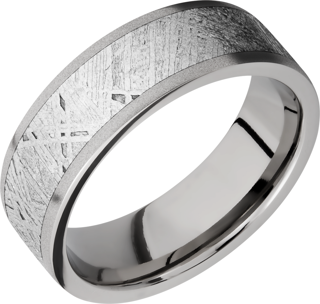 lashbrook meteorite titanium 7mm flat band
