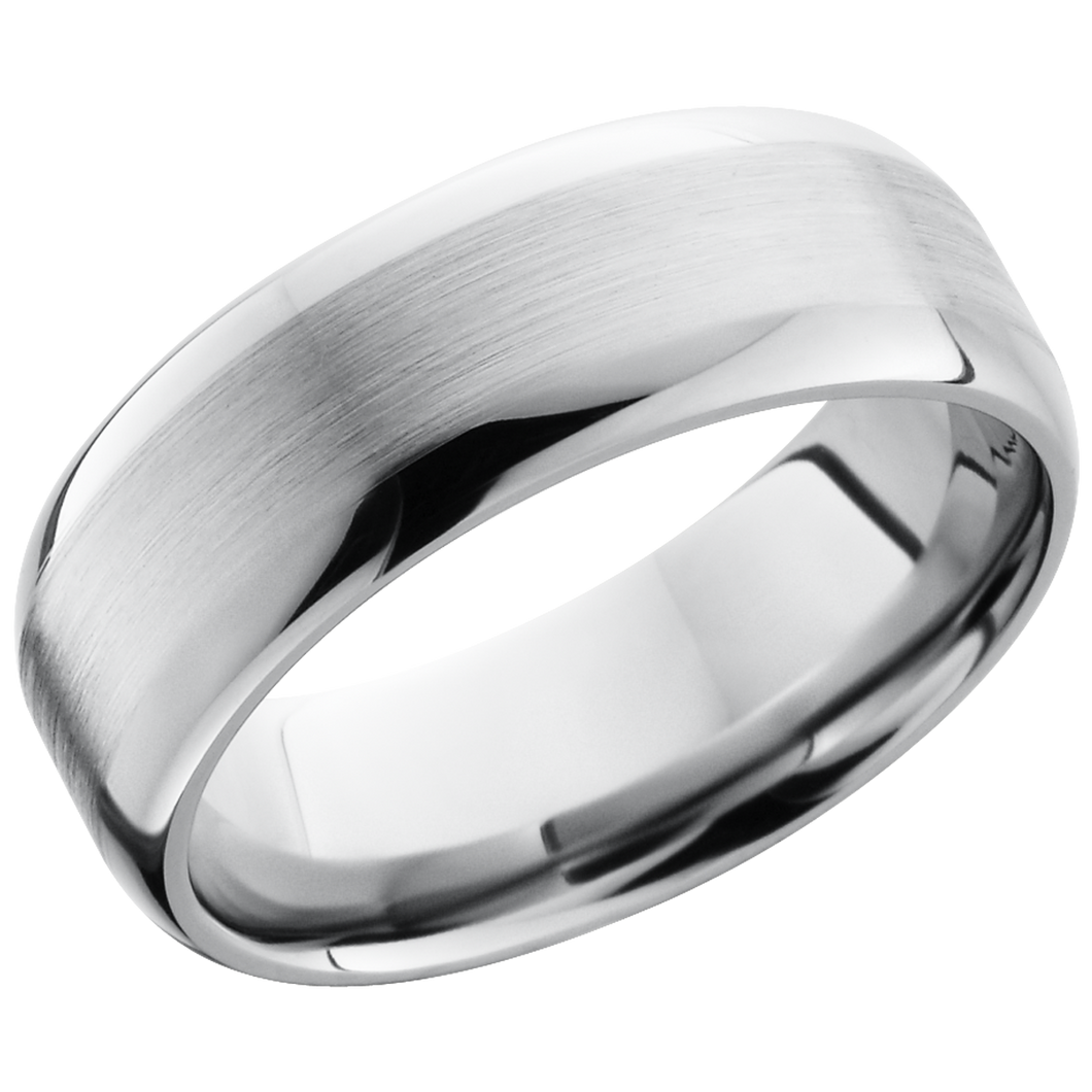 lashbrook titanium collection titanium 8mm domed band