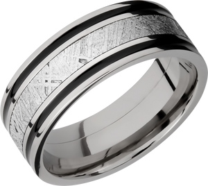 lashbrook meteorite titanium 8mm flat band