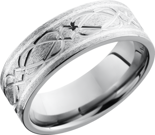 lashbrook titanium collection titanium 8mm flat band